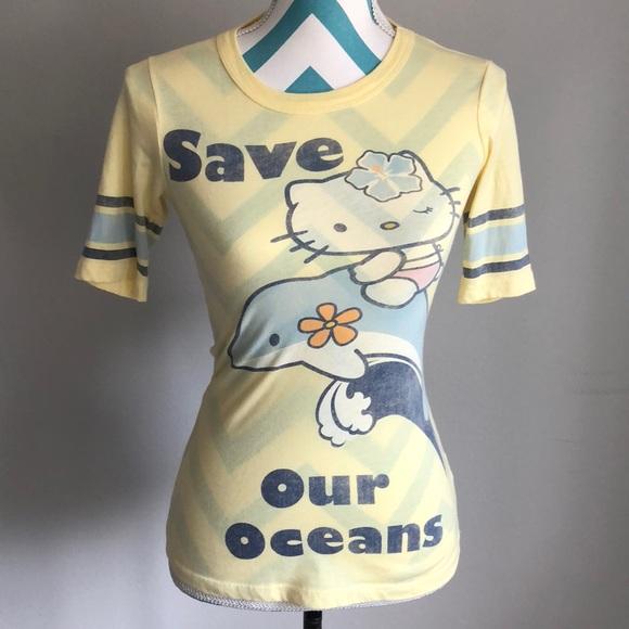 4172f5756 Hello Kitty Tops - Yellow Hello Kitty shirt